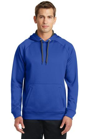 SportTek Tech Fleece Hooded Sweatshirt. ST250