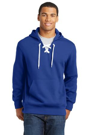 SportTek Lace Up Pullover Hooded Sweatshirt. ST271