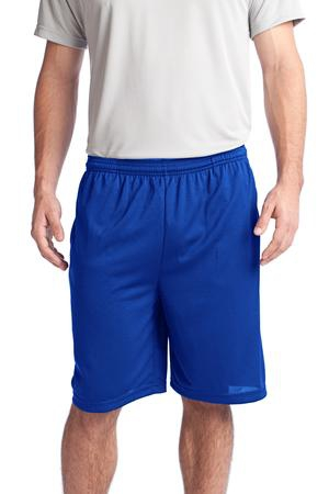 SportTek PosiCharge Tough Mesh Pocket Short. ST312