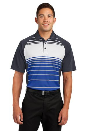 SportTek Dry Zone Sublimated Stripe Polo. ST600