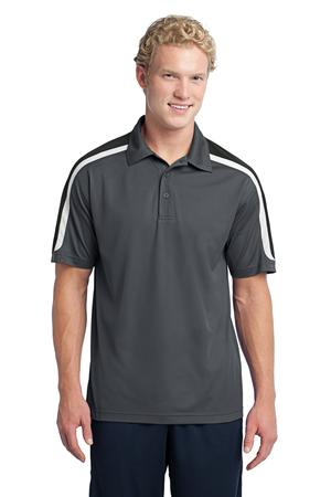 SportTek Tricolor Shoulder Micropique SportWick Polo. ST658
