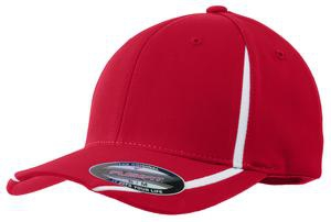SportTek Flexfit Performance Colorblock Cap. STC16