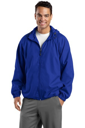 SportTek Tall Hooded Raglan Jacket. TJST73
