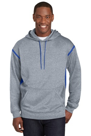 SportTek Tall Tech Fleece Colorblock  Hooded Sweatshirt. TST246