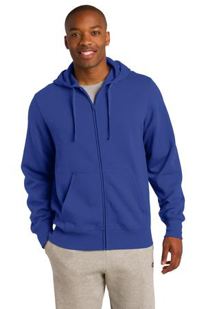 SportTek Tall FullZip Hooded Sweatshirt. TST258