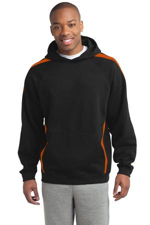 SportTek Tall Sleeve Stripe Pullover Hooded Sweatshirt. TST265