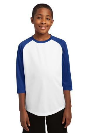 SportTek Youth PosiCharge Baseball Jersey. YST205