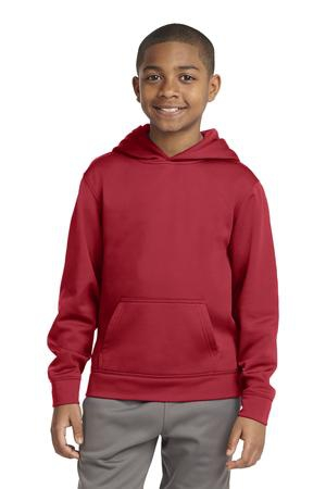 SportTek Youth SportWick Fleece Hooded Pullover. YST244