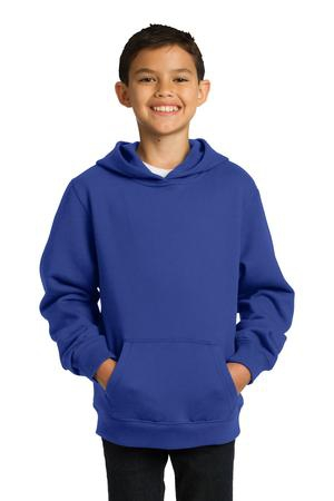 SportTek Youth Pullover Hooded Sweatshirt. YST254