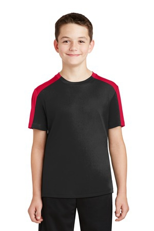 SportTek Youth PosiCharge Competitor SleeveBlocked Tee. YST354