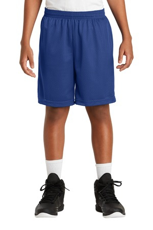 SportTek Youth PosiCharge Classic Mesh Short. YST510