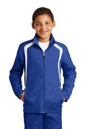 SportTek Youth Colorblock Raglan Jacket. YST60