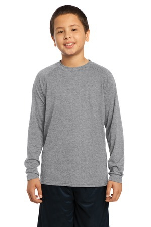 SportTek Youth Long Sleeve Ultimate Performance Crew. YST700LS