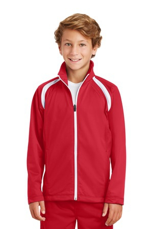 SportTek Youth Tricot Track Jacket. YST90