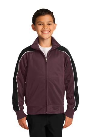 SportTek Youth Piped Tricot Track Jacket. YST92