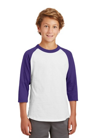 SportTek Youth Colorblock Raglan Jersey.  YT200
