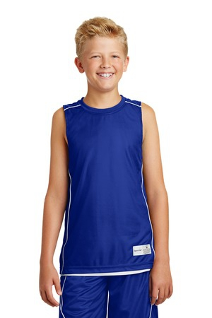 SportTek Youth PosiCharge Mesh Reversible Sleeveless Tee. YT555