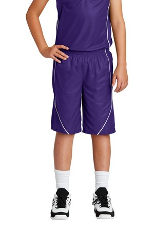 SportTek Youth PosiCharge Mesh Reversible Spliced Short. YT565