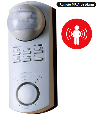 Wide-Area Motion Alarm With 130-dB Siren For Indoor