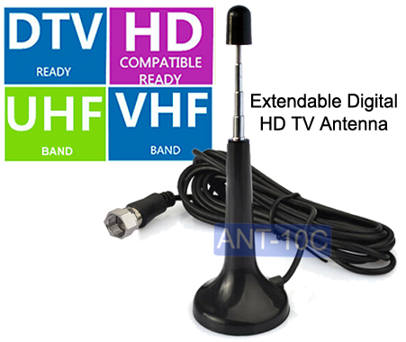 5-Section Extendable Digital TV Antenna For Mobile Use
