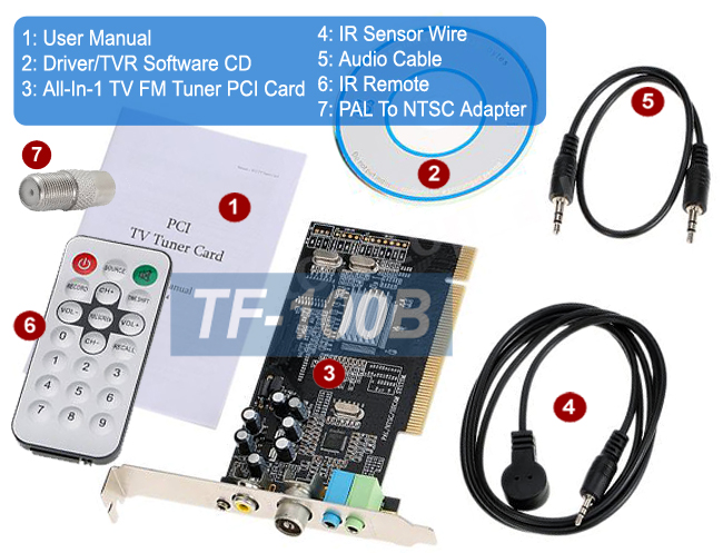 Details about Universal TV FM Tuner Card + DVR Card For Desktop PC Win8  Win7 Win XP