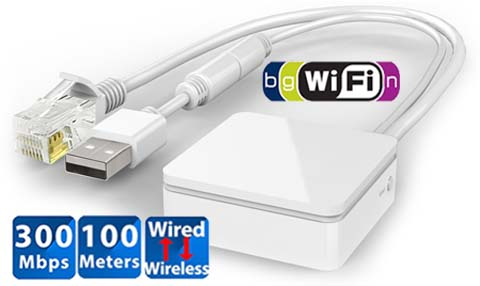 Premium 300Mbps Wireless Router Wi-Fi Repeater Wi-Fi To Wired Ethernet Adapter