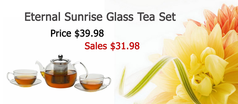 Eternal Sunrise Glass Tea Set.